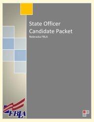 State Officer Candidate Packet - Nebraska FBLA