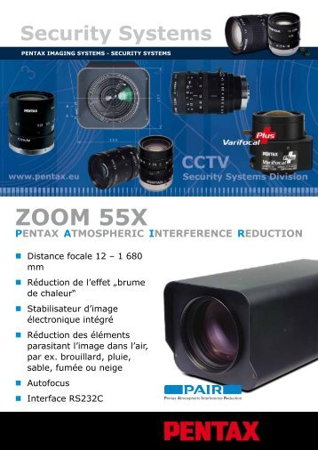 ZOOm 55X - Security Systems - Pentax