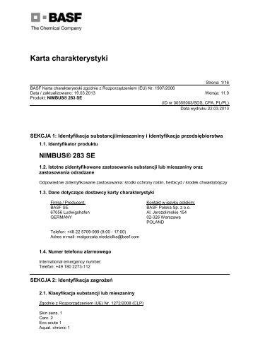 Nimbus 283 SE - BASF Polska