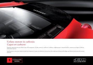 Cofano motore in carbonio Capot en carbone