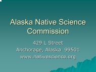 Origins - Alaska Native Science Commission