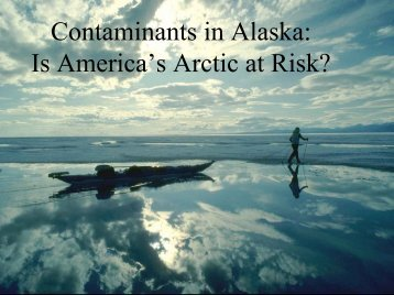 Is America's Arctic at Risk? - Alaska Native Science Commission