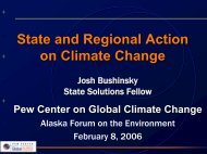 State and Regional Action on Climate Change - Alaska Native ...