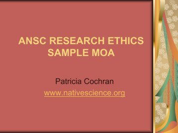Research Ethics - Alaska Native Science Commission