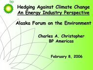 Hedging Against Climate Change An Energy Industry Perspective ...