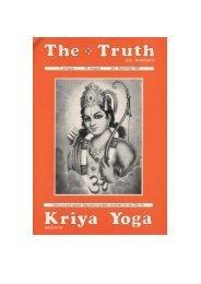 DIE WAHRHEIT - Kriya Yoga