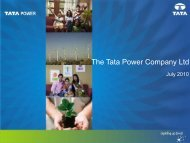 Investors' Meet - July 2010 - Tata Power