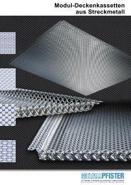 Modul-Deckenkassetten aus Streckmetall - E. Pfister & Cie AG