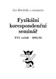 Fyzikální korespondenční seminář - FYKOS