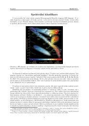 Spektrální klasifikace - Fykos
