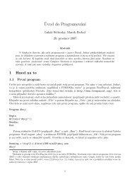 Úvod do Programování - Fykos