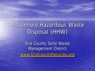 Household Hazardous Waste Disposal (HHW) - The Firelands ...
