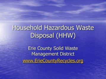Household Hazardous Waste Disposal (HHW) - The Firelands ...