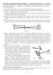 12. ročník, úloha II . S ... spektra, spektrografy a koutové ... - Fykos