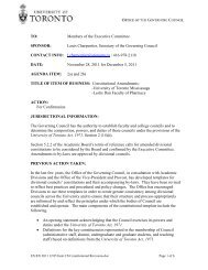 Members of the Executive Committee SPONSOR - University of ...