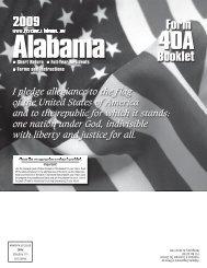 Instruction booklet - Alabama Department of Revenue - Alabama.gov