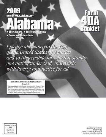 Instruction booklet - Alabama Department of Revenue - Alabama.gov