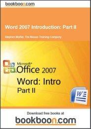 Word 2007 Introduction: Part II Language English Format - Tutorsindia