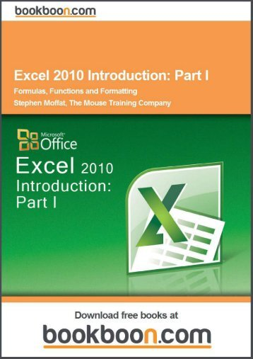 Excel 2010 Introduction: Part I Language English Format - Tutorsindia