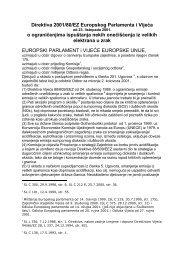 Direktiva 2001 80 Onečišćenje zraka iz velikih elektrana