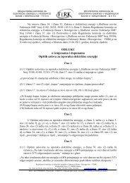 ODLUKU o izmjenama i dopunama Opštih uslova za ... - FERK