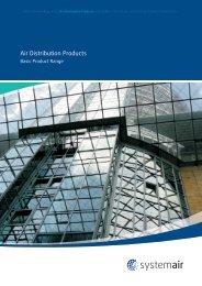 Air Distribution Products Catalogue (17 Mb) - Systemair
