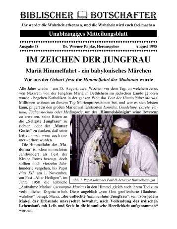 Mariä Himmelfahrt - ein babylonisches Märchen - Dr-Papke.de