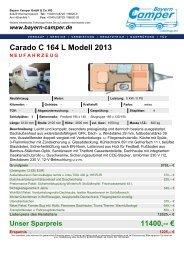 Carado C 164 L Modell 2013 NEUFAHRZEUG - Bayern-Camper