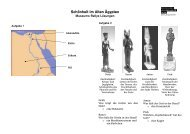 Ägypten-Rallye Lösungen - Rheinisches Landesmuseum Trier