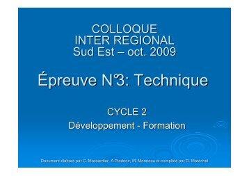 Epreuve N°3 Cycle 2