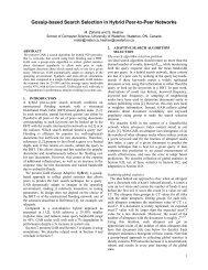 Gossip-based Search Selection in Hybrid Peer-to-Peer Networks