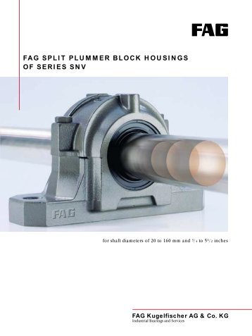 FAG plummer block housings, split - łożyska - P.H.U. FART