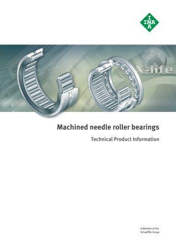 Machined needle roller bearings: TPI 117 - łożyska - P.H.U. FART