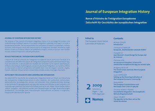 2009 - The European Union Liaison Committee of Historians