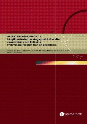 orienteringsrapport - Skog og landskap