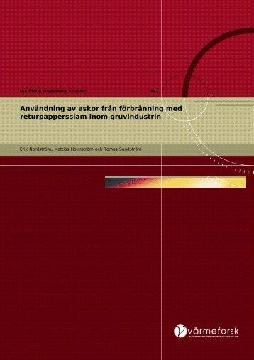 Rapport 862.pdf - Svenska EnergiAskor AB