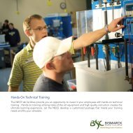 Hands-On Technical Training Brochure - Bismarck State College