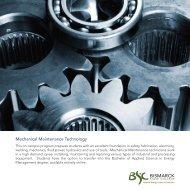 Mechanical Maintenance Brochure - Bismarck State College
