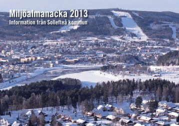 Miljöalmanacka 2013 - Sollefteå kommun