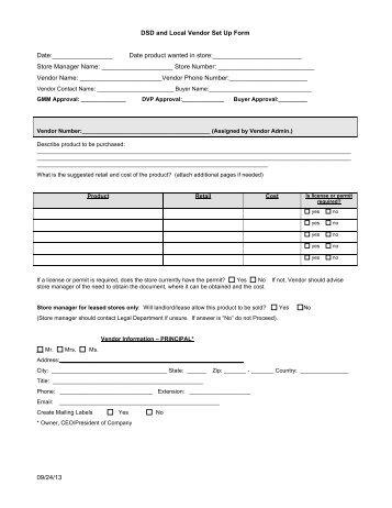 FEMA-Vendor Profile Form