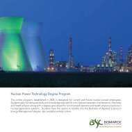 Nuclear Power Technology Degree Program - Bismarck State College