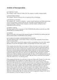 Articles of Incorporation - Rörvik Timber