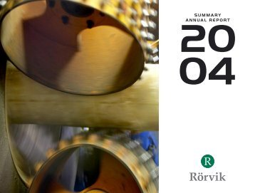 Annual Report 2004 (pdf, 2.1 MB) - Rörvik Timber