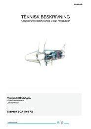 Bilaga B Teknisk beskrivning - Vindkraft Norr