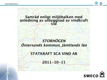 Presentation Storhögen - Vindkraft Norr