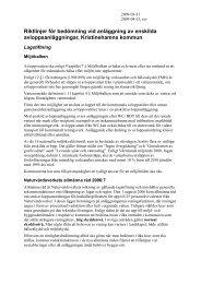 Här hittar du de riktlinjer som gäller för avloppsanläggningar inom ...