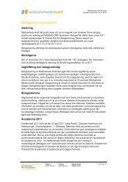 Bolagsstyrningsrapport 2011 - Rabbalshede Kraft