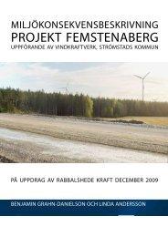 Miljökonsekvensbeskrivning - Rabbalshede Kraft