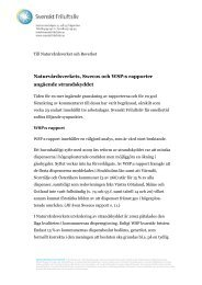 Svenskt Friluftslivs yttrande om strandsskydd juni 2013
