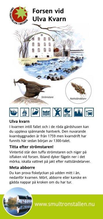 Forsen vid Ulva Kvarn (pdf). - Uppsala kommun